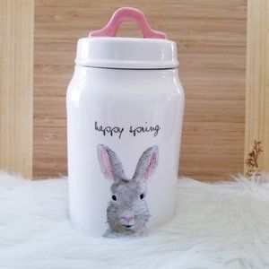 NEW Rae Dunn Easter Happy Spring Canister